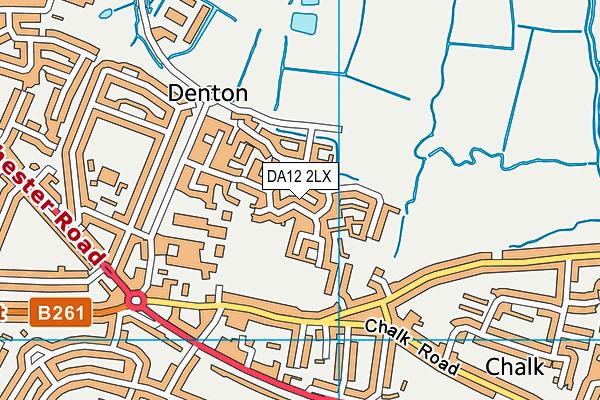 DA12 2LX map - OS VectorMap District (Ordnance Survey)