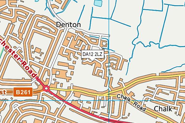DA12 2LZ map - OS VectorMap District (Ordnance Survey)