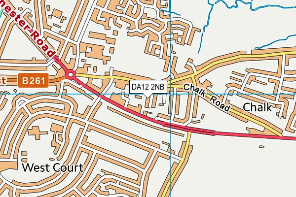 DA12 2NB map - OS VectorMap District (Ordnance Survey)