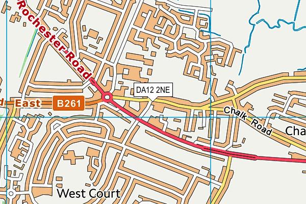 DA12 2NE map - OS VectorMap District (Ordnance Survey)