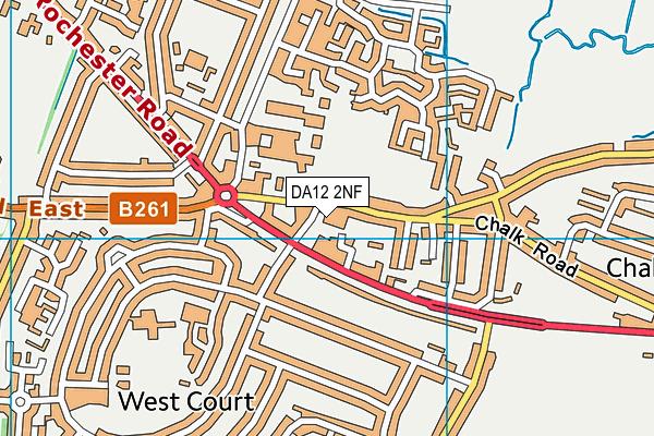 DA12 2NF map - OS VectorMap District (Ordnance Survey)