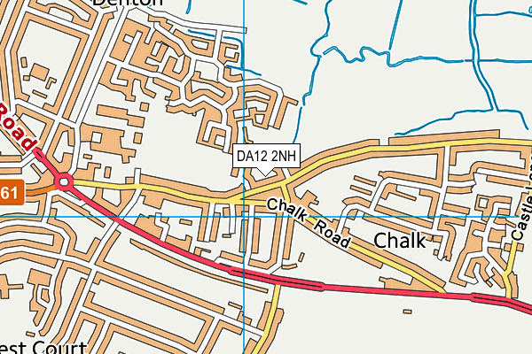 DA12 2NH map - OS VectorMap District (Ordnance Survey)