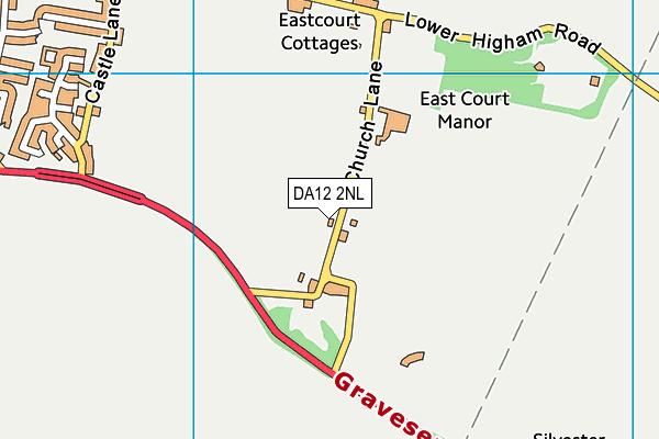 DA12 2NL map - OS VectorMap District (Ordnance Survey)