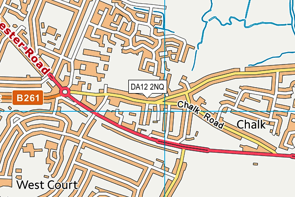 DA12 2NQ map - OS VectorMap District (Ordnance Survey)