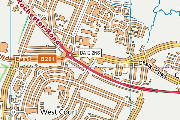 DA12 2NS map - OS VectorMap District (Ordnance Survey)