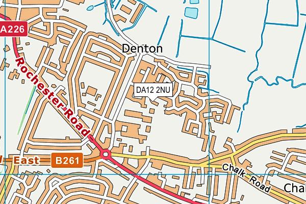 DA12 2NU map - OS VectorMap District (Ordnance Survey)