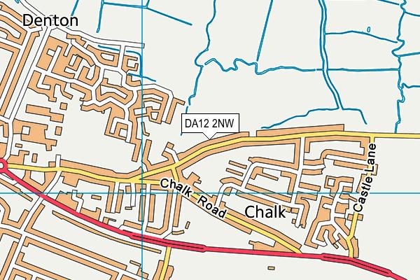 DA12 2NW map - OS VectorMap District (Ordnance Survey)