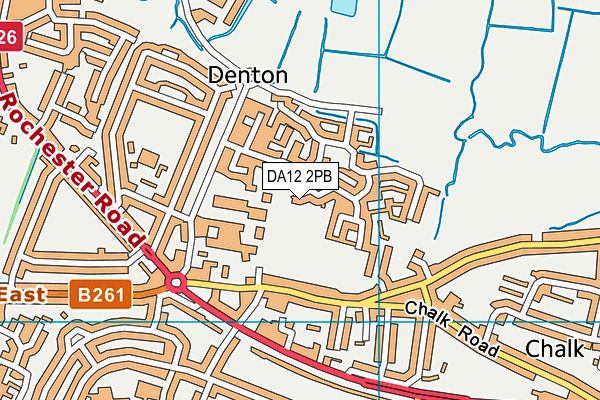 DA12 2PB map - OS VectorMap District (Ordnance Survey)