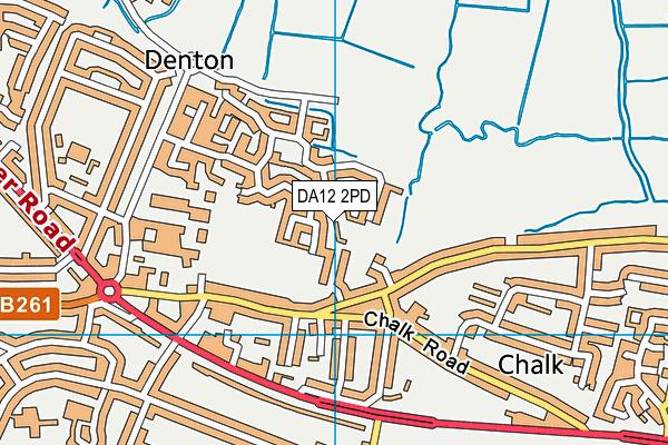 DA12 2PD map - OS VectorMap District (Ordnance Survey)