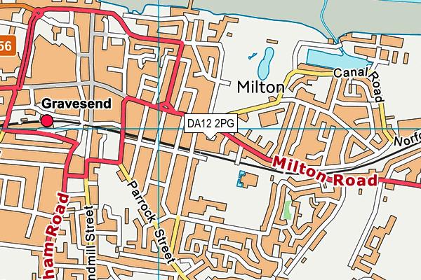 DA12 2PG map - OS VectorMap District (Ordnance Survey)