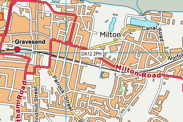 DA12 2PH map - OS VectorMap District (Ordnance Survey)