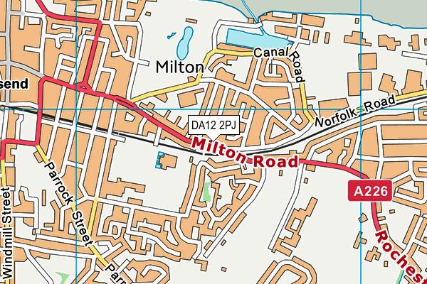 DA12 2PJ map - OS VectorMap District (Ordnance Survey)