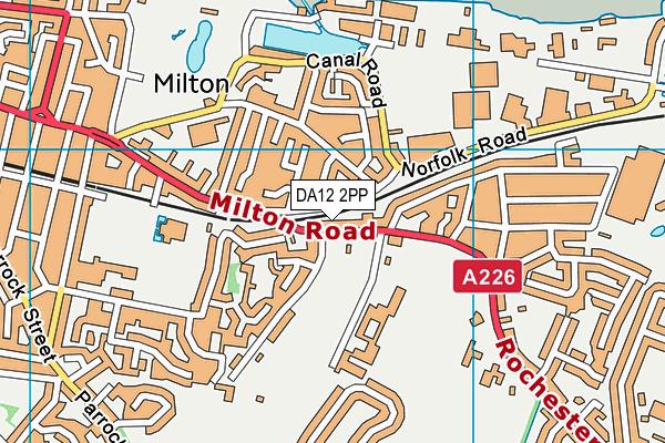DA12 2PP map - OS VectorMap District (Ordnance Survey)