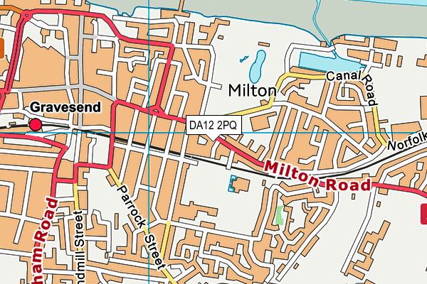 DA12 2PQ map - OS VectorMap District (Ordnance Survey)