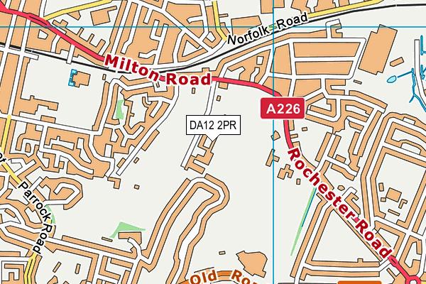 Gravesend Grammar School map (DA12 2PR) - OS VectorMap District (Ordnance Survey)