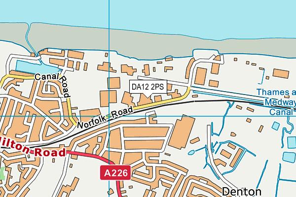 DA12 2PS map - OS VectorMap District (Ordnance Survey)
