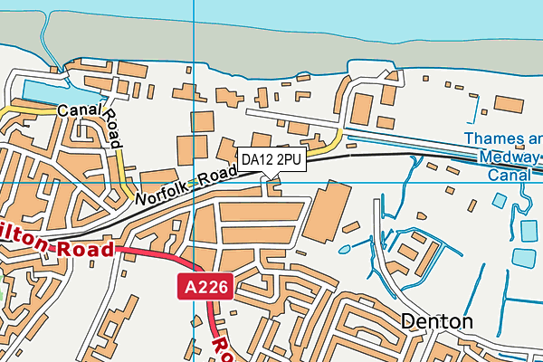DA12 2PU map - OS VectorMap District (Ordnance Survey)