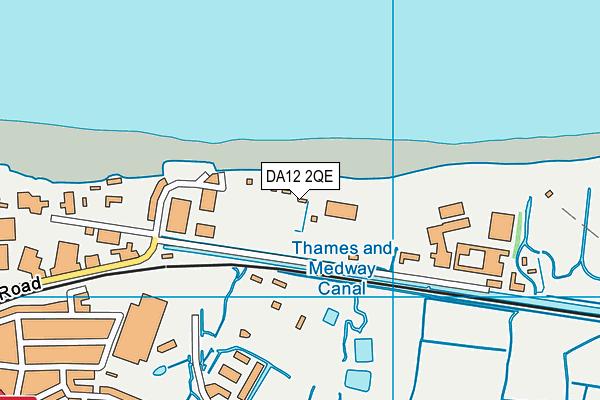 DA12 2QE map - OS VectorMap District (Ordnance Survey)