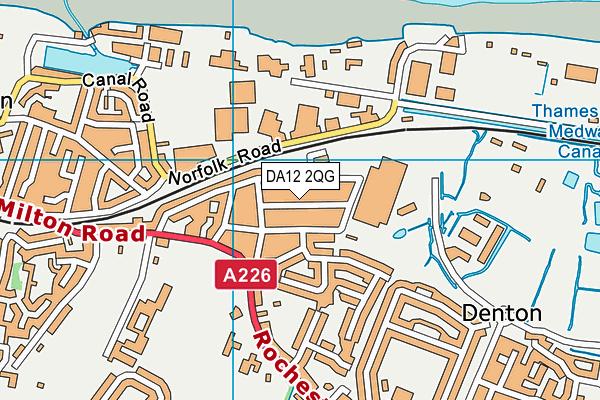 DA12 2QG map - OS VectorMap District (Ordnance Survey)