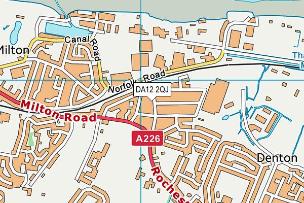DA12 2QJ map - OS VectorMap District (Ordnance Survey)