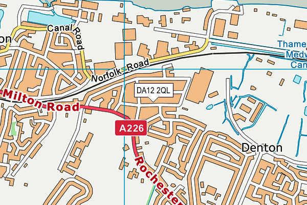 DA12 2QL map - OS VectorMap District (Ordnance Survey)