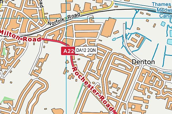 DA12 2QN map - OS VectorMap District (Ordnance Survey)