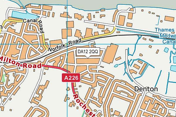 DA12 2QQ map - OS VectorMap District (Ordnance Survey)