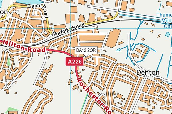 DA12 2QR map - OS VectorMap District (Ordnance Survey)
