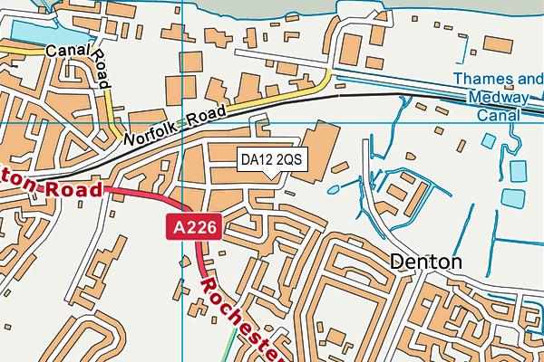 DA12 2QS map - OS VectorMap District (Ordnance Survey)