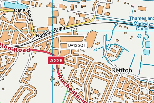 DA12 2QT map - OS VectorMap District (Ordnance Survey)