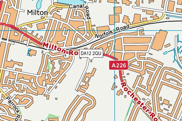 DA12 2QU map - OS VectorMap District (Ordnance Survey)