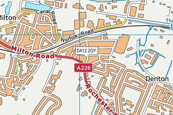 DA12 2QY map - OS VectorMap District (Ordnance Survey)