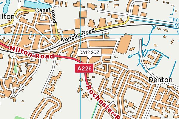 DA12 2QZ map - OS VectorMap District (Ordnance Survey)