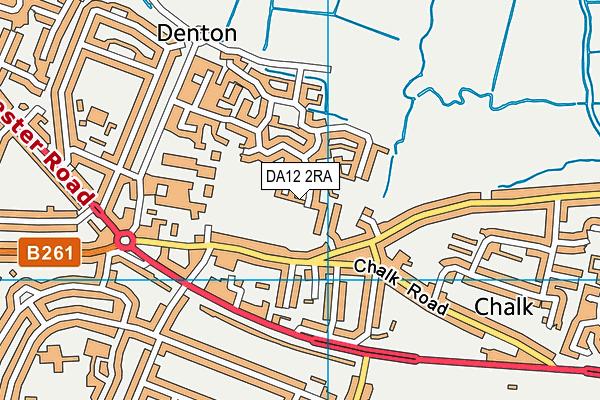 DA12 2RA map - OS VectorMap District (Ordnance Survey)