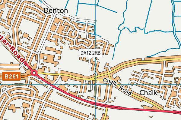 DA12 2RB map - OS VectorMap District (Ordnance Survey)