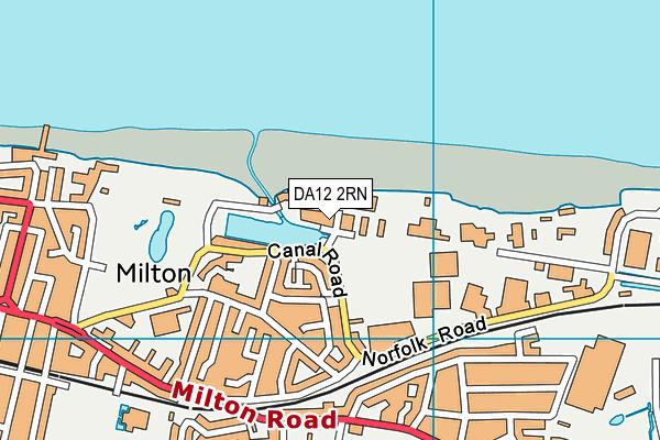 DA12 2RN map - OS VectorMap District (Ordnance Survey)