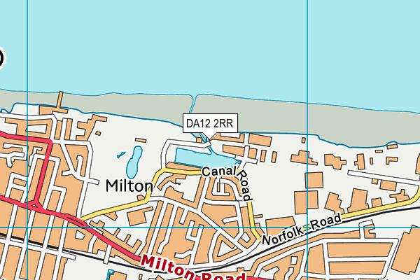 DA12 2RR map - OS VectorMap District (Ordnance Survey)