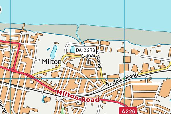 DA12 2RS map - OS VectorMap District (Ordnance Survey)