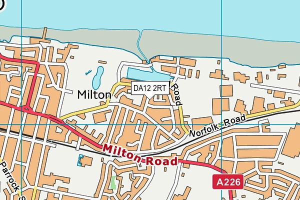 DA12 2RT map - OS VectorMap District (Ordnance Survey)