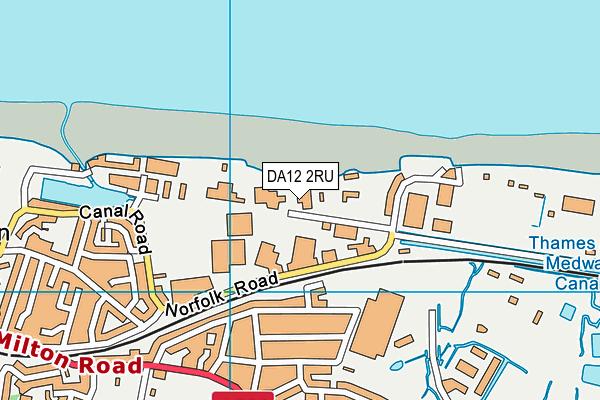 DA12 2RU map - OS VectorMap District (Ordnance Survey)