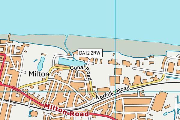 DA12 2RW map - OS VectorMap District (Ordnance Survey)