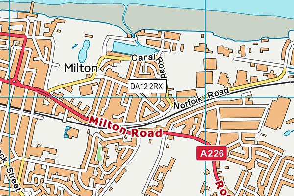DA12 2RX map - OS VectorMap District (Ordnance Survey)