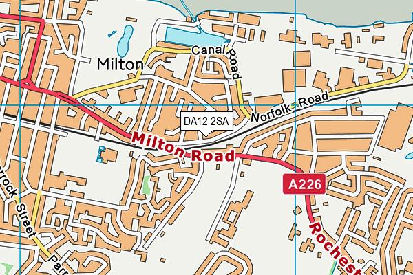 DA12 2SA map - OS VectorMap District (Ordnance Survey)