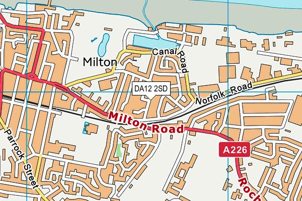 DA12 2SD map - OS VectorMap District (Ordnance Survey)