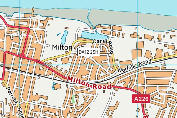 DA12 2SH map - OS VectorMap District (Ordnance Survey)