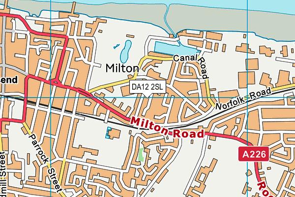 DA12 2SL map - OS VectorMap District (Ordnance Survey)