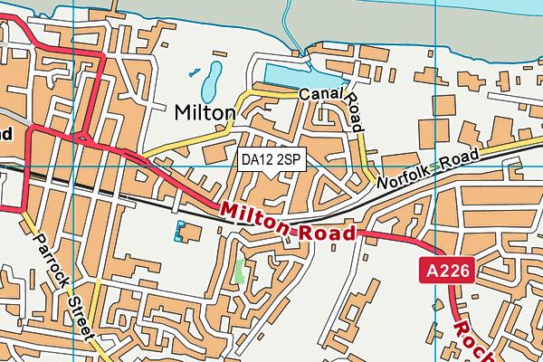 DA12 2SP map - OS VectorMap District (Ordnance Survey)