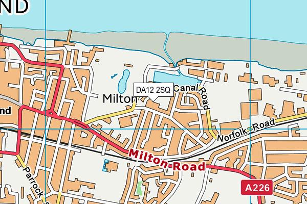 DA12 2SQ map - OS VectorMap District (Ordnance Survey)