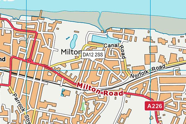 DA12 2SS map - OS VectorMap District (Ordnance Survey)