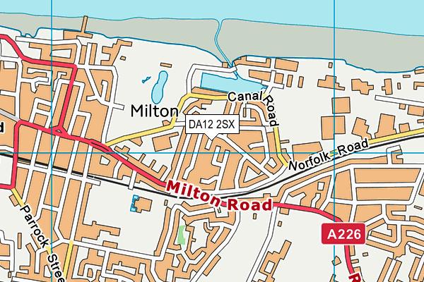 DA12 2SX map - OS VectorMap District (Ordnance Survey)